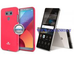 Mercury Jelly dėklas nugarėlė Huawei P8 telefonui tamsiai rožinės spalvos