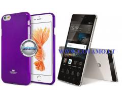 Mercury Jelly dėklas nugarėlė Huawei P8 telefonui violetinės spalvos