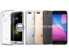 Mercury Jelly dėklas nugarėlė Huawei P9 Lite Mini telefonui skaidrus