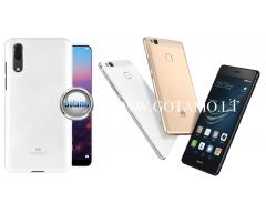Mercury Jelly dėklas nugarėlė Huawei P9 Lite telefonui baltos spalvos