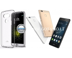 Mercury Jelly dėklas nugarėlė Huawei P9 Lite telefonui skaidrus