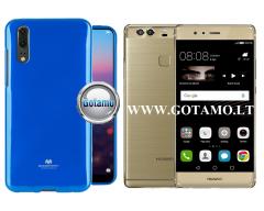 Mercury Jelly dėklas nugarėlė Huawei P9 Plus telefonui mėlynos spalvos