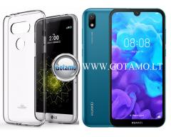 Mercury Jelly dėklas nugarėlė Huawei Y5 (2019) Huawei Honor 8S telefonui skaidrus