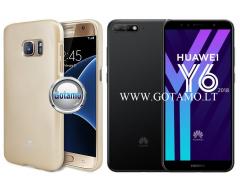 Mercury Jelly dėklas nugarėlė Huawei Y6 (2018) Huawei Honor 7A telefonui aukso spalvos
