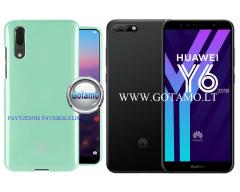 Mercury Jelly dėklas nugarėlė Huawei Y6 (2018) Huawei Honor 7A telefonui mėtinės spalvos