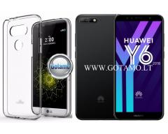 Mercury Jelly dėklas nugarėlė Huawei Y6 (2018) Huawei Honor 7A telefonui skaidrus