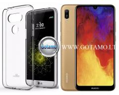 Mercury Jelly dėklas nugarėlė Huawei Y6 (2019) Huawei Honor 8A telefonui skaidrus