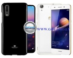 Mercury Jelly dėklas nugarėlė Huawei Y6II telefonui juodos spalvos