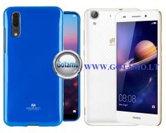 Mercury Jelly dėklas nugarėlė Huawei Y6II telefonui mėlynos spalvos