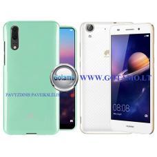 Mercury Jelly dėklas nugarėlė Huawei Y6II telefonui mėtinės spalvos
