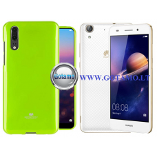 Mercury Jelly dėklas nugarėlė Huawei Y6II telefonui salotinės spalvos