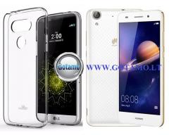 Mercury Jelly dėklas nugarėlė Huawei Y6II telefonui skaidrus