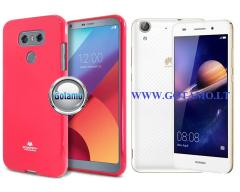 Mercury Jelly dėklas nugarėlė Huawei Y6II telefonui tamsiai rožinės spalvos