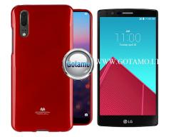 Mercury Jelly dėklas nugarėlė LG G4 telefonui raudonos spalvos