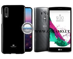 Mercury Jelly dėklas nugarėlė LG G4s G4 Beat telefonui juodos spalvos
