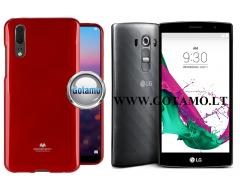 Mercury Jelly dėklas nugarėlė LG G4s G4 Beat telefonui raudonos spalvos