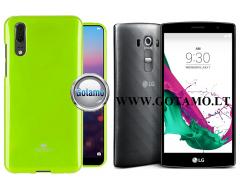 Mercury Jelly dėklas nugarėlė LG G4s G4 Beat telefonui salotinės spalvos