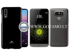 Mercury Jelly dėklas nugarėlė LG G5 telefonui juodos spalvos