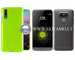 Mercury Jelly dėklas nugarėlė LG G5 telefonui salotinės spalvos