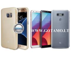 Mercury Jelly dėklas nugarėlė LG G6 telefonui aukso spalvos