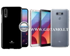 Mercury Jelly dėklas nugarėlė LG G6 telefonui juodos spalvos