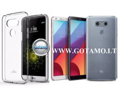 Mercury Jelly dėklas nugarėlė LG G6 telefonui skaidrus