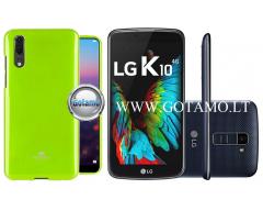 Mercury Jelly dėklas nugarėlė LG K10 telefonui salotinės spalvos