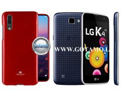 Mercury Jelly dėklas nugarėlė LG K4 telefonui raudonos spalvos