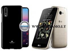 Mercury Jelly dėklas nugarėlė LG K5 telefonui juodos spalvos