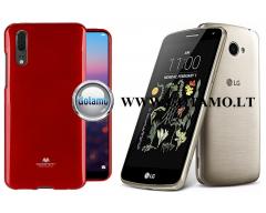 Mercury Jelly dėklas nugarėlė LG K5 telefonui raudonos spalvos
