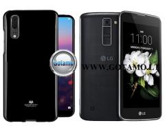 Mercury Jelly dėklas nugarėlė LG K7 telefonui juodos spalvos
