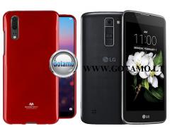 Mercury Jelly dėklas nugarėlė LG K7 telefonui raudonos spalvos