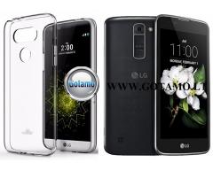 Mercury Jelly dėklas nugarėlė LG K7 telefonui skaidrus