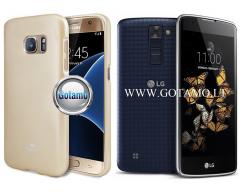 Mercury Jelly dėklas nugarėlė LG K8 telefonui aukso spalvos