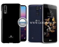 Mercury Jelly dėklas nugarėlė LG K8 telefonui juodos spalvos