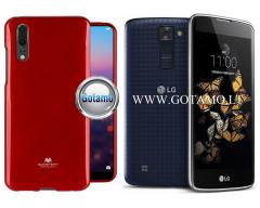 Mercury Jelly dėklas nugarėlė LG K8 telefonui raudonos spalvos
