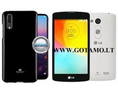Mercury Jelly dėklas nugarėlė LG L Fino telefonui juodos spalvos