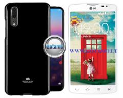 Mercury Jelly dėklas nugarėlė LG L80 telefonui juodos spalvos