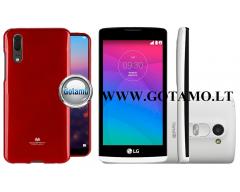 Mercury Jelly dėklas nugarėlė LG Leon telefonui raudonos spalvos