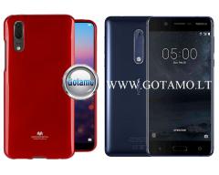 Mercury Jelly dėklas nugarėlė Nokia 5 telefonui raudonos spalvos