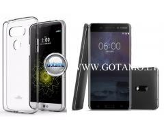 Mercury Jelly dėklas nugarėlė Nokia 6.1 Nokia 6 (2018) telefonui skaidrus