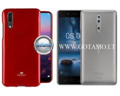 Mercury Jelly dėklas nugarėlė Nokia 8 telefonui raudonos spalvos