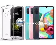 Mercury Jelly dėklas nugarėlė Samsung Galaxy A71 telefonui skaidrus