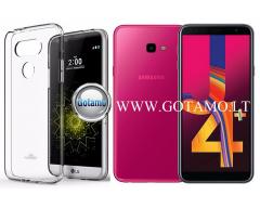 Mercury Jelly dėklas nugarėlė Samsung Galaxy J4+ (2018) telefonui skaidrus