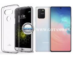Mercury Jelly dėklas nugarėlė Samsung Galaxy S10 Lite telefonui skaidrus