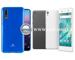 Mercury Jelly dėklas nugarėlė Sony Xperia E5 telefonui mėlynos spalvos