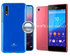 Mercury Jelly dėklas nugarėlė Sony Xperia M4 Aqua telefonui mėlynos spalvos