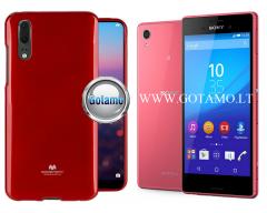 Mercury Jelly dėklas nugarėlė Sony Xperia M4 Aqua telefonui raudonos spalvos