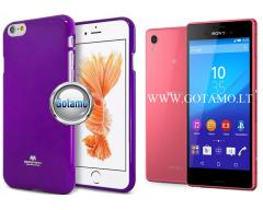 Mercury Jelly dėklas nugarėlė Sony Xperia M4 Aqua telefonui violetinės spalvos