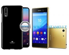 Mercury Jelly dėklas nugarėlė Sony Xperia M5 telefonui juodos spalvos